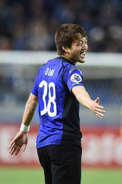 Ritsu Doan of Gamba Osaka celebrates scoring a goal during the AFC Champions League Group H match between Gamba Osaka v Adelaide United at Suita City Football Stadium on April 25, 2017 in Suita, Japan.