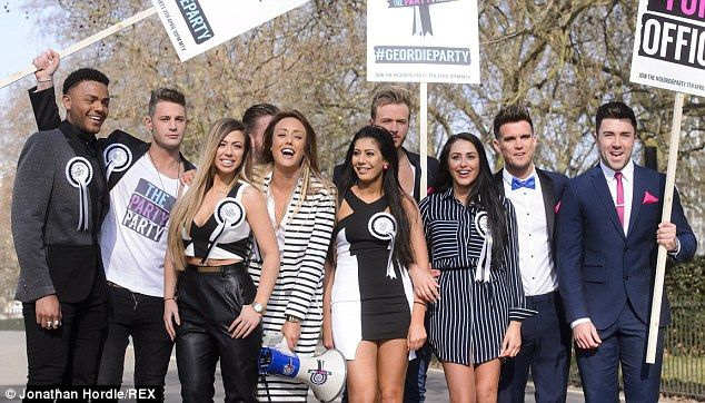 The group: (From front left) Holly Hagan, Charlotte Crosby, Chloe Etherington and Marnie S...