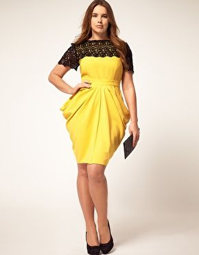 I look wonderful in yellow! You'll want to buy this for me simply for the pleasure of knowing how wonderful I'd look in it! I'll need it in a UK 26