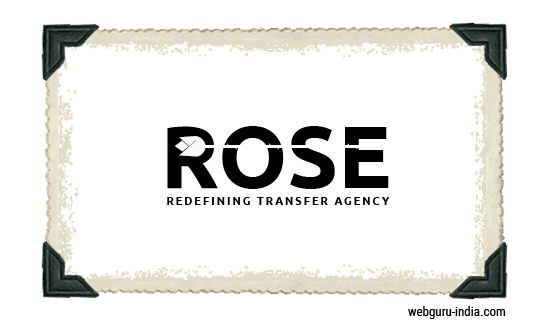 ROSE Logo - Negative Space  Learn more ► http://www.webguru-india.com/blog/top-8-trends-of-logo-design-in-2015/