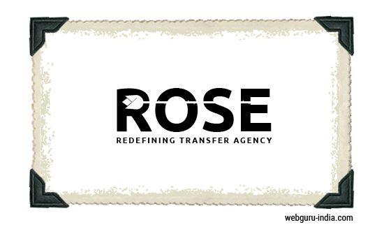 ROSE Logo - Negative Space  Learn more ► http://www.webguru-india.com/blog/top-8-trends-of-logo-design-in-2015/