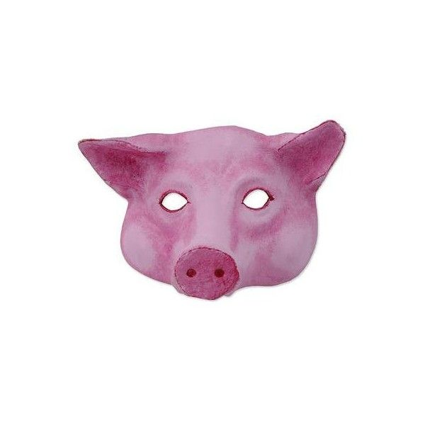 NOVICA Handcrafted Pink Leather Pig Face Mask from Brazil (6005 DZD) ❤ liked on Polyvore featuring home, home decor, mask, pink, pink home decor, novica home decor, pink flamingo home decor, pink home accessories and leather home decor