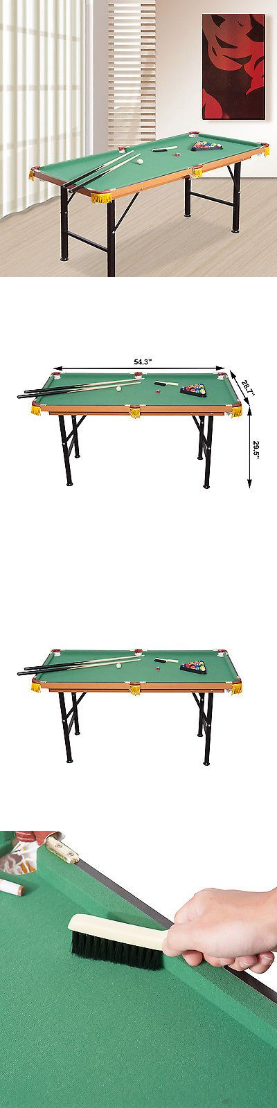 Tables 21213: Soozier 4.5Ft Mini Foldable Pool Table Portable Billiard Table Full Set W/ Balls BUY IT NOW ONLY: $124.19
