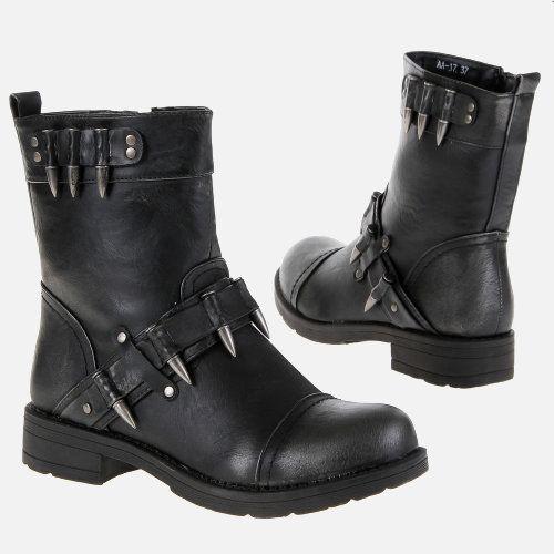 Invictian - Black & Bullets - Botas militares - Mujer #botas #militares #mujer