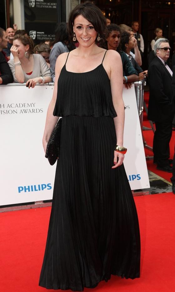 Suranne Jones Wearing Halston Heritage At The BAFTA British Academy Television Awards 2010