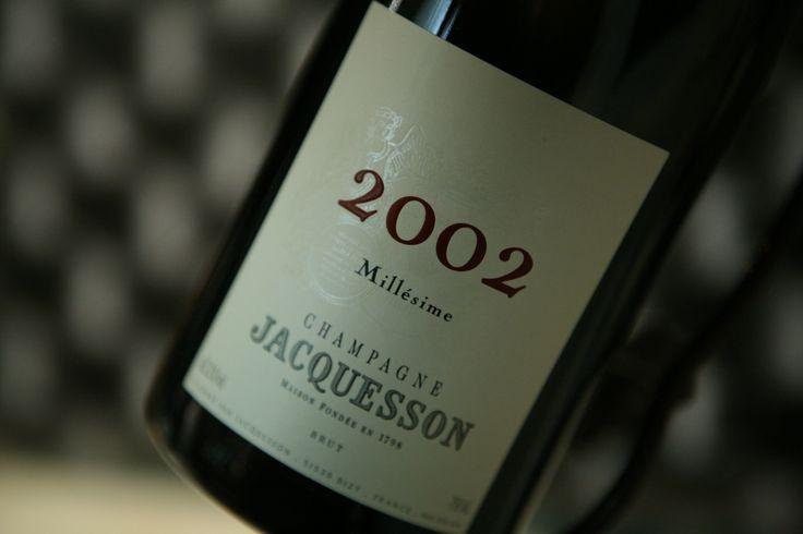 Champagne Millésimé 2002 Domaine Jacquesson #champagne