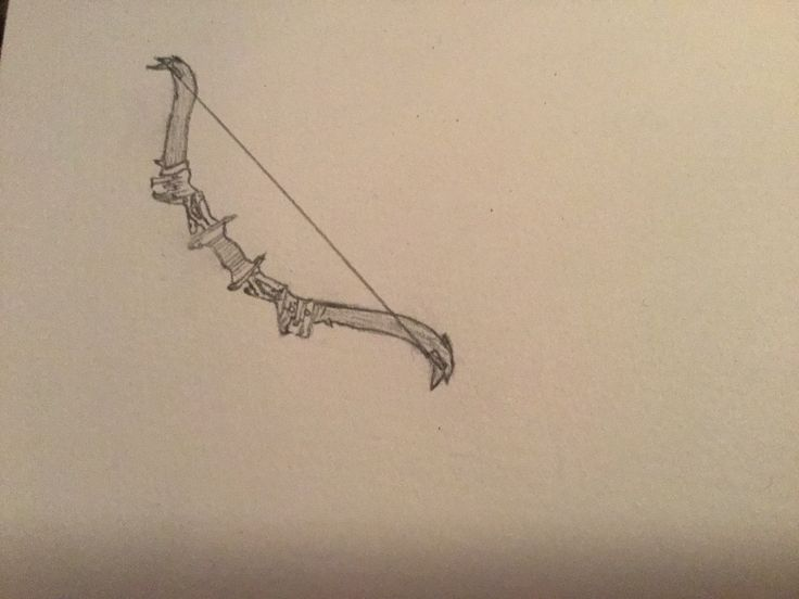 Drawing of a militery recurvebow