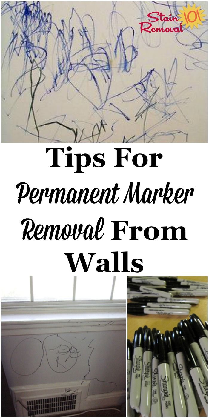 Tips For Permanent Marker Removal From Walls Cleaning Hacks