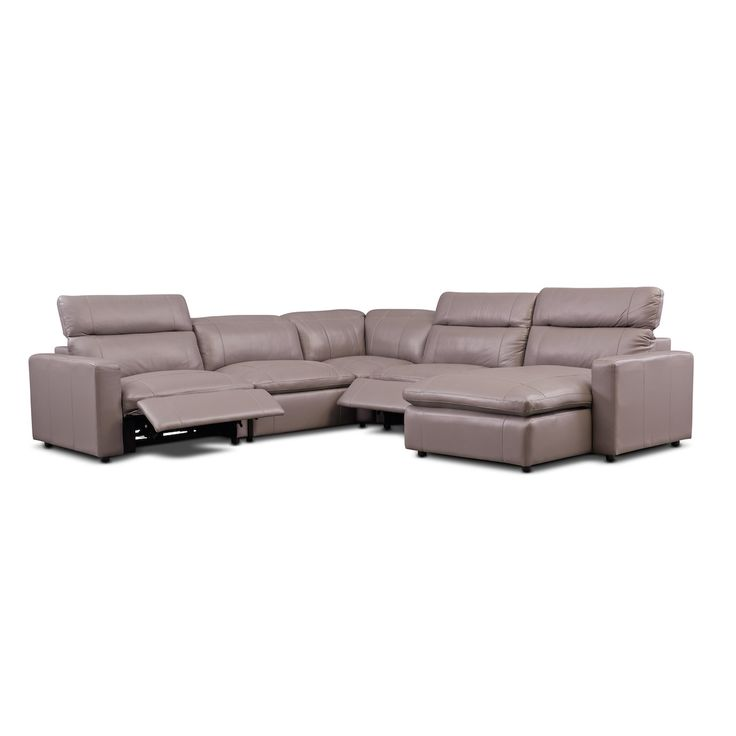 Happy 5 Piece Dual Power Reclining Sectional With Right
