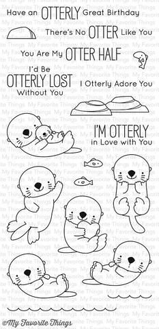 "MFT STAMPS: Otterly Love You (4"" x 8.5"" Clear Photopolymer Stamp Set) This package includes Otterly Love You, a 19 piece set including: - Otter(s) (6) 1 7/8"" x 15/16"", 1 1/16"" x 1 15/16"", 1"" x 1 15/16"