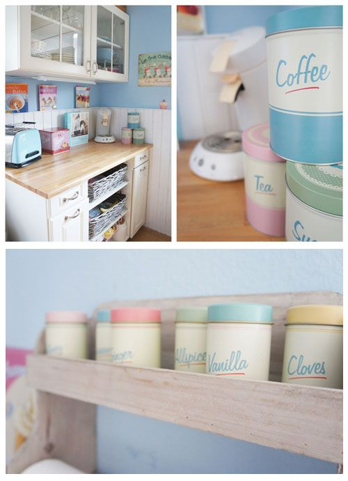 Bring spring into your kitchen with calming hues of a pastel rainbow!