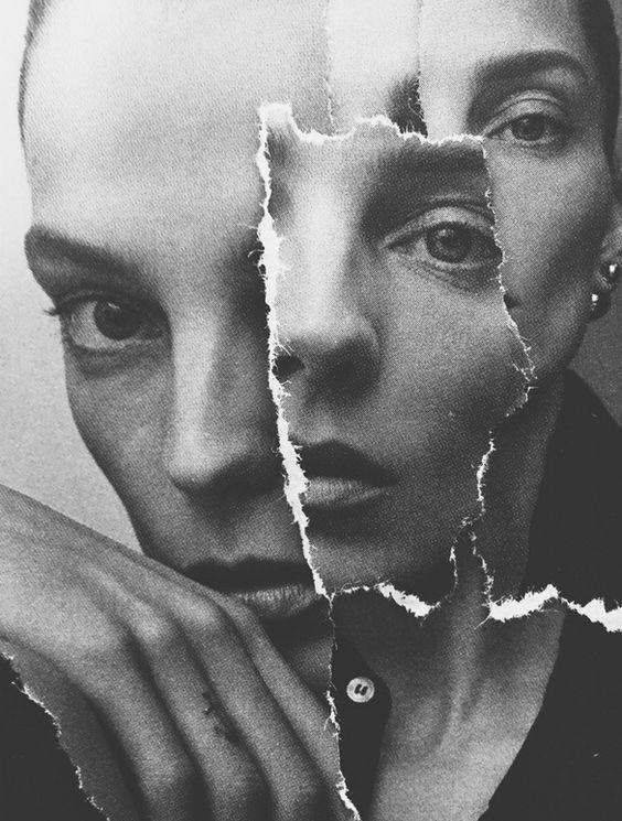 Collage met scheurlijnen (Digitaal of Traditioneel):