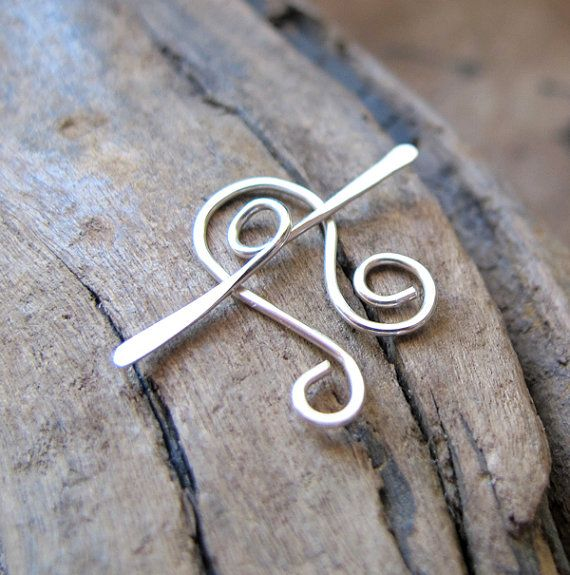 Sterling Silver Toggle Clasp. Necklace Closure. Artisan Jewelry Findings. Handmade Supplies