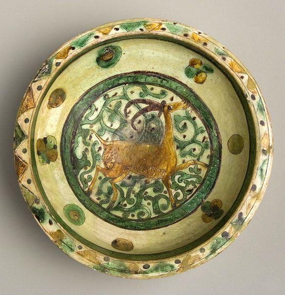 "Incised Aghkand Dish - ADC.76 Origin: Central Asia Circa: 12 th Century AD to 13 th Century AD Dimensions: 3.98"" (10.1cm) high x 11.22"" (..."