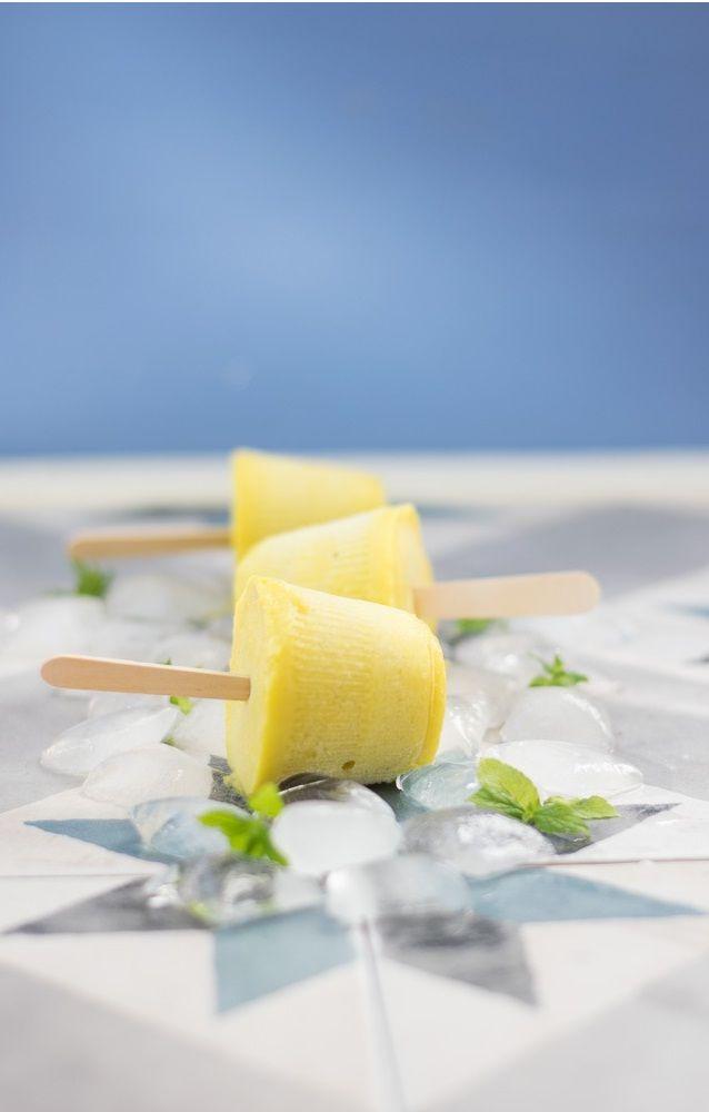 Γρανίτα από Λεμόνι !!!! Μόνο με: λεμόνι, μήλο, μέλι, κρόκο αυγού, λουίζα και κουρκουμά.