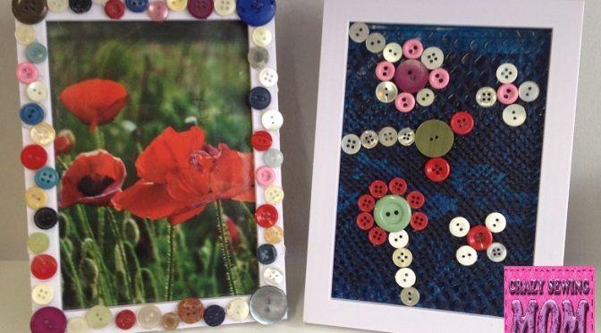 Crafts 6: Fotolijstjes versieren. Ook leuk om te maken met de kids! Nu op www.crazysewingmom.com