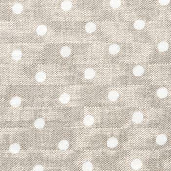 Textilwachstuch m/Punkten Sand/Weiß