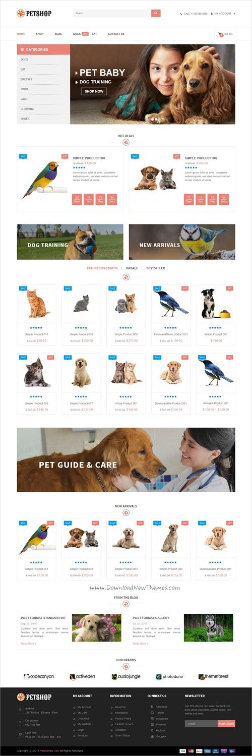 VG Petshop is a wonderful 4in1 responsive WooCommerce #WordPress theme for pet store, #veterinary clinic, dog training classes, animal #shelters and pet hotels, dog / cat trainers, or pet caretakers websites download now➩ https://themeforest.net/item/vg-petshop-creative-woocommerce-theme-for-pets-and-vets/18193778?ref=Datasata