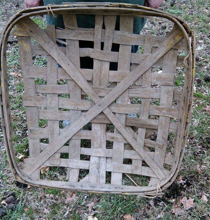 Two Primitive tobacco basket vintage Farm antique east Tennessee  North Carolina