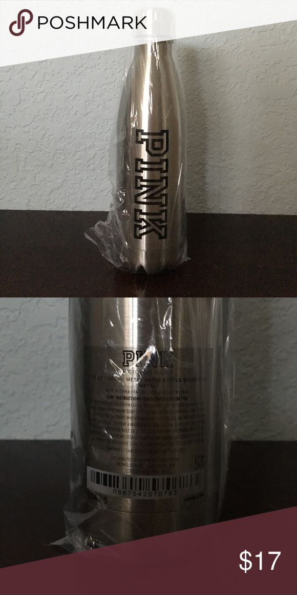 VS Pink Water Bottle Victoria's Secret Pink metal water bottle. 17 oz. Brand new, still in plastic packaging.  ✓ NO Trades / Merc / PP / etc. PINK Victoria's Secret Other