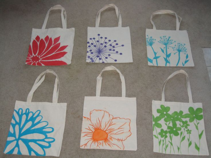 DIY Bridesmaids Tote bags / Hand painted for my lovely ladies