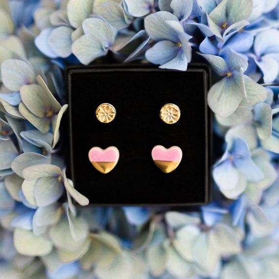 Tiny gold stud earrings Mini stud earrings Gold by ZuDesignJewelry