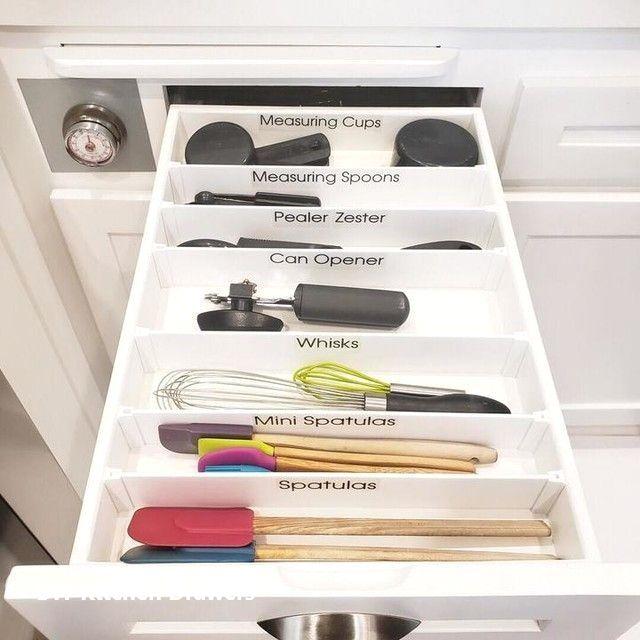 Diy Kitchen Drawer Organizer Ideas In 2020 Kitchen Drawer Dividers Kitchen Drawers Kitchen Drawer Organization