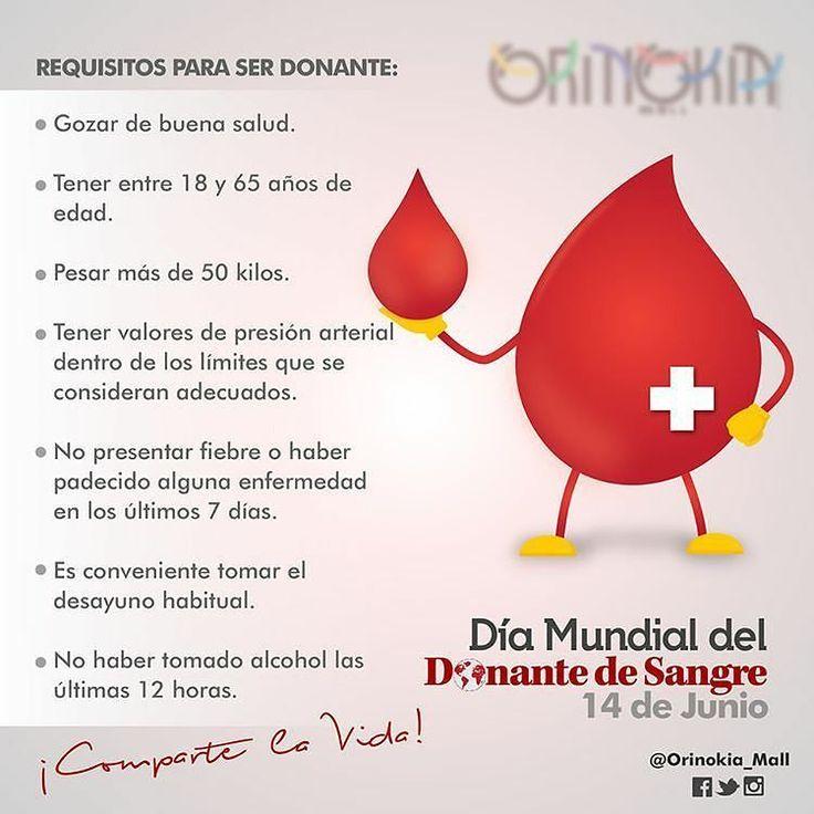 El Día Mundial del Donante de Sangre se celebra el 14 de junio de cada año. Su objetivo es ayudar a crear una cultura mundial de la donación voluntaria de sangre. Desde 2004 con este evento se rinde homenaje a los donantes de sangre y se pone de manifiesto la función singular que desempeñan en la salud de su comunidad por el hecho de salvar vidas.  #14dejunio #DiaMundialDel #DonanteDeSangre #Salva3Vidas #LaSangreNosUne  Fuente: @orinokia_mall