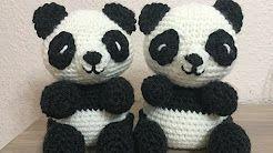 como tejer un oso panda en crochet - YouTube