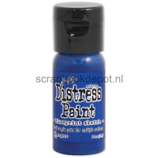 Tim Holtz Distress Flip Top Paints Blueprint Sketch