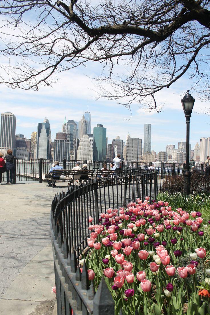 Spring in NYC Brooklyn Heights Promenade