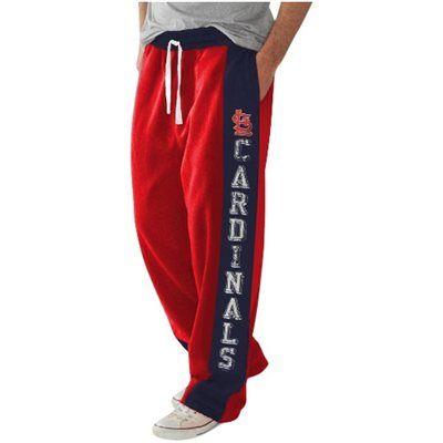St. Louis Cardinals Tackle Fleece Pants - Red/Navy Blue