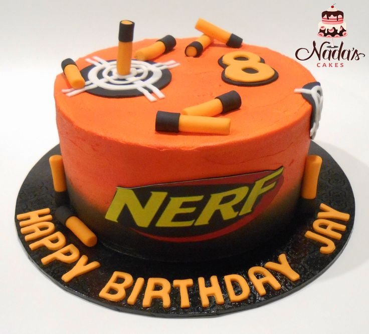 Nerf Themed Buttercream Birthday Cake