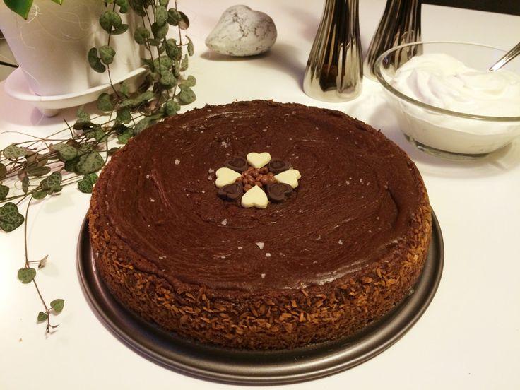 Glutenfri fudgetårta