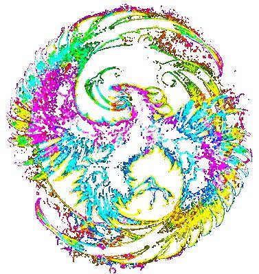 potisk, originální motiv na tričko,T-ART.CZ, phenix psychedelic art  design t-shirt