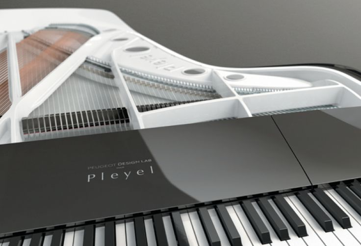 Peugeot Design Lab's piano of the future: By lowering the mechanics, the cover and keyboard are now aligned