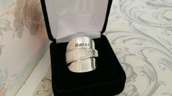 Check out this item in my Etsy shop https://www.etsy.com/ca/listing/457106916/sterling-silver-spoon-ring-blessed-ring