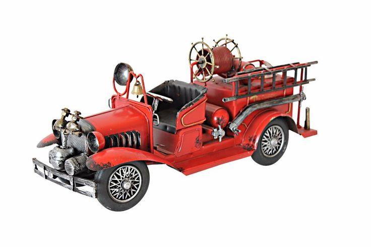 Yricas Design Metal Yang's Vintage Utility Motor Vehicle,red