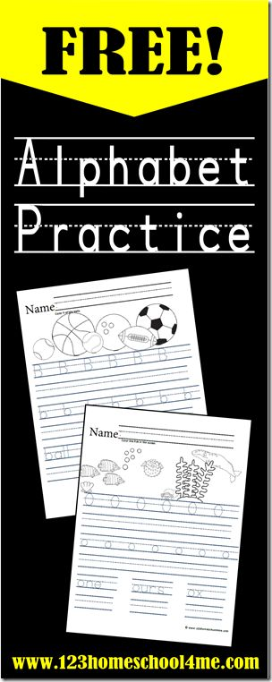 Alphabet Worksheets for Preschool, Kindergarten and 1st Grade Homeschoolers.  #alphabet #worksheets #freeprintables #homeschool