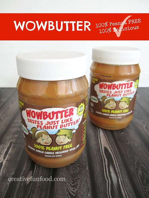 WOWBUTTER: peanut FREE, nut FREE substitute. Perfect allergy friendly alternative for schools