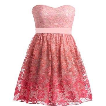 Gradient Sherbet Dress: Designer Dresses, Hot Pink Dresses, Dresses, Sherbet Dress, Polyvore, Gradient Sherbet, Lace Dresses, 16 Dresses