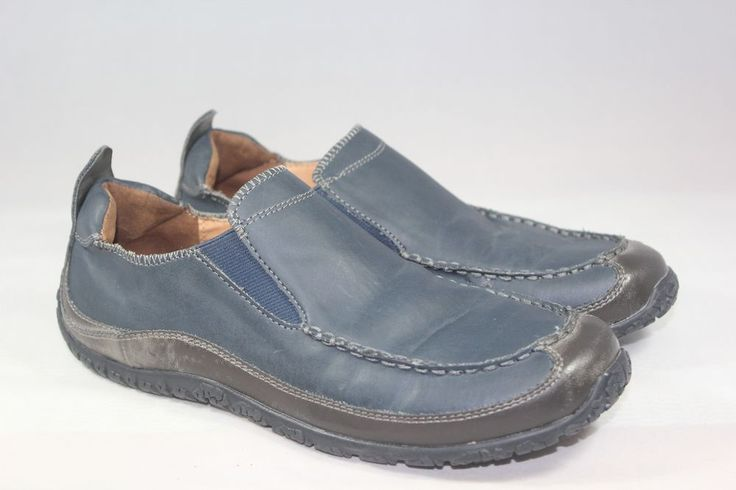 Cole Haan GIRL'S Navy Leather Loafers Oxfords Drivers Moc Toe Shoes Sz 5 Youth  #ColeHaan #Loafers