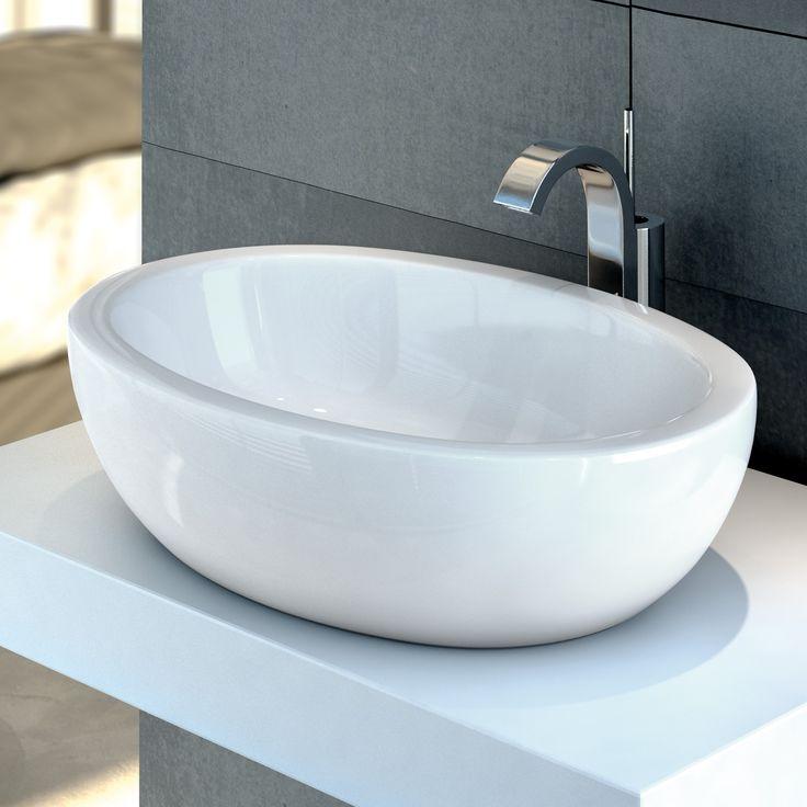 IDEAL STANDARD STRADA - umywalka nablatowa owalna 60 cm biała K078401