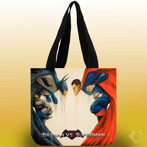 Batman vs Superman Funny Cartoon Tote Bags