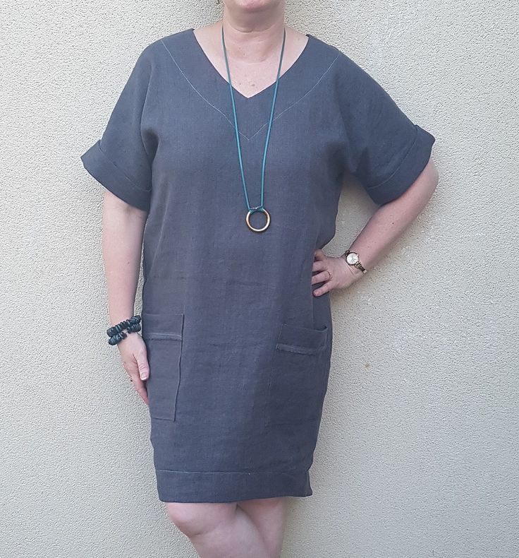 Style Arc Adeline dress in Merchant and Mills Linen