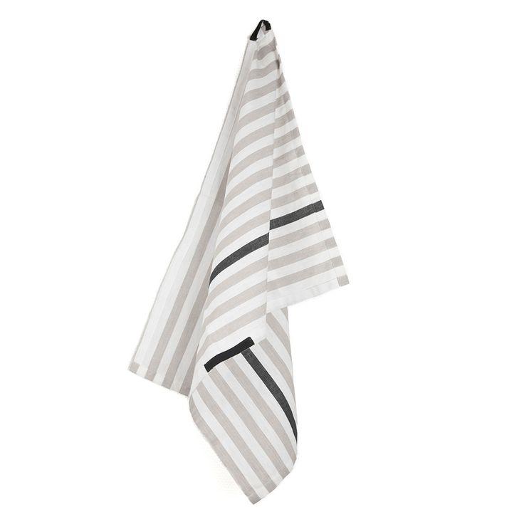Present+Kitchen+Towel+50x70cm,+Grey/Black,+Ørskov