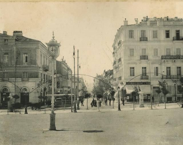 1922 ~ View of Ermou str. from Syntagma square, Athens