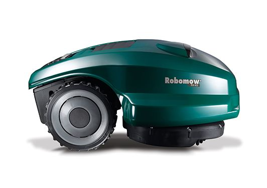 Imagine a lawn mower that doesn't need gas, oil, tune-ups, spark plugs, or even electricity. Now imagine a lawn mower that cuts grass all by itself. Can you think of a better way to enjoy the summer than not ever having to mow the lawn?The Robomow RM400 is a fully automatic mower than does the job for you. Just set up the wire perimeter, program the Robomow's schedule and sit back to enjoy a perfectly cut lawn all summer long. The Robomow will keep ...