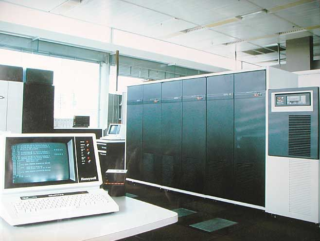 DPS-8 mainframe running Multics, ca. 1980s. Bull Systeme X ...