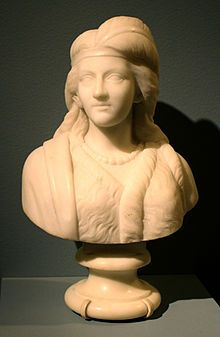 Mary Edmonia Lewis (ca. July 4, 1844–September 17, 1907) was the first African American and Native American woman to gain fame and recognition as a sculptor in the international fine arts world. She was of African American, Haitian and Ojibwe descent. Minnehaha, marble, 1868, collection of the Newark Museum
